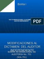 Bolilla i Nia 701 Modificaciones Al Dictamen Del Auditor