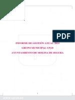 Informe Gestión 2014 GM UPyD Molina de Segura