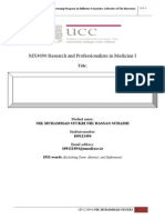 4th Draf MX4090 Research and Professionalism in Medicine I