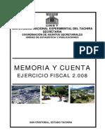 Memoria y Cuenta 2008