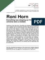 Roni Horn Exhibition Brochure