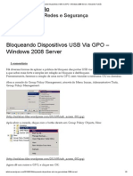 Bloqueando Dispositivos USB via GPO – Windows 2008 Server