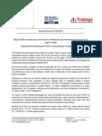 Nota de Prensa Nº 03 - 2014