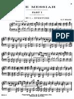 Handel Messiah Schirmer 1912-Bars. Piano-Vocal
