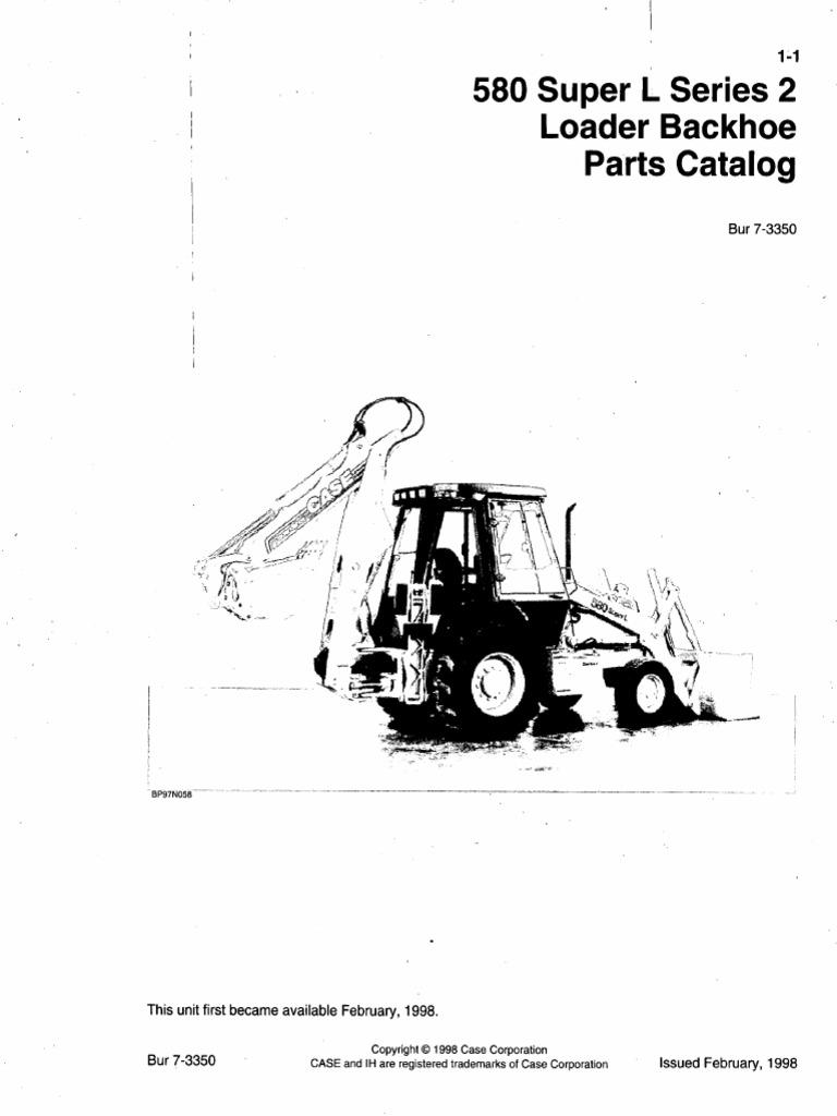 MANUAL DE PARTES RETRO CASE 580SL SERIES 2 .pdf | Loader (Equipment) |  Transmission (Mechanics)Scribd