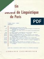 Szemerényi - La théorie des laryngales de Saussure à Kuryłowicz et à Benveniste - Essai de réévaluation