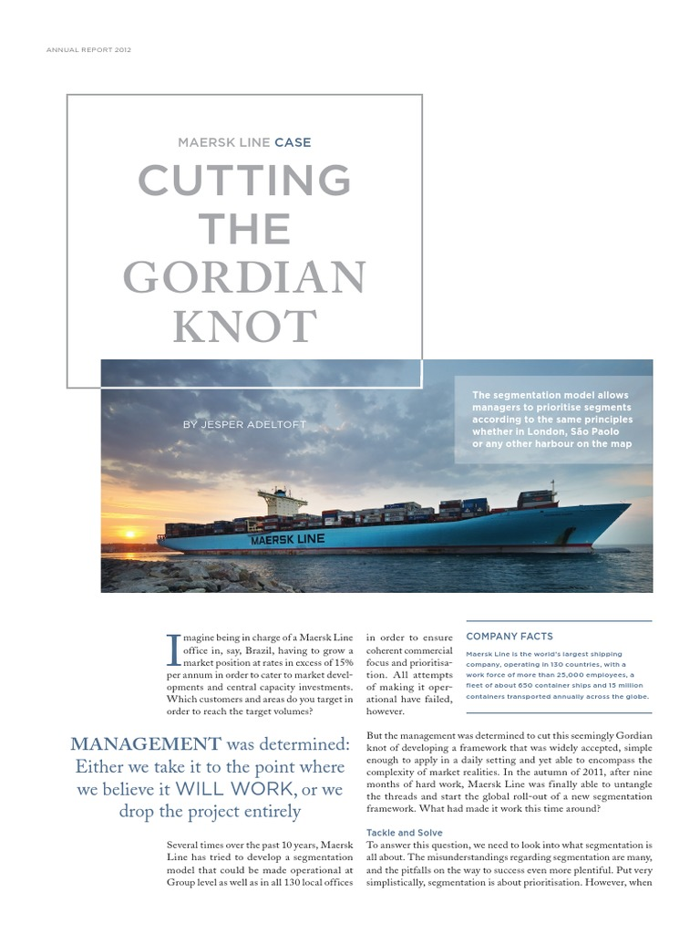 Maersk Line Case(1) | Segmentación de mercado | Marketing