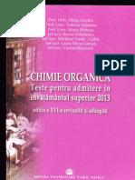 Chimie Organica Teste Medicina 2013
