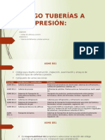 Codigos de Tuberias a Presion