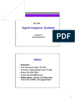 Lecture 1 Digital Computer Systems