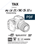 Pentax K-5 II bruksanvisning (Svenska)