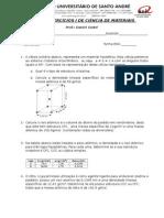 Lista de Exercícios i de Ciência de Materiais