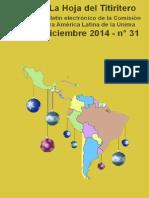 La Hoja Del Titiritero-Diciembre 2014