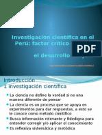 Investigación Científica en El Perú Ciencia y Sociedad
