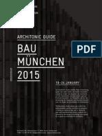 BAU 2015 Guide Architonic