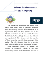 Next Challenge for Governance Cloud Computing