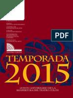 Teatro Colón Temporada-2015