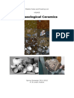 Archaeological Ceramics Module Notes & Reading List (Nottingham) 2011-12