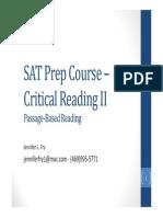 SAT Prep Course – Critical Reading II