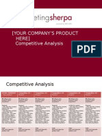 MECLABS Competitive Analysis Presentation Template