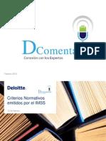 Criterios Normativos IMSS (Febrero 2015)