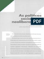 Politicas Sociais No Neoliberalismo - Sonia Draibe