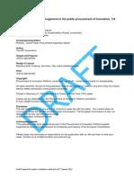 PPI Risk Management for Public Consultation