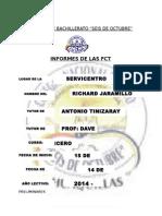 Informe de Actividades Realizadas en Formación de Centros de Trabajo Jaramillo