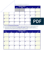 2015 Monthly Calendar Small