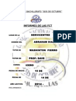 Informes de Actividades Realizadas en Formación de Centros de Trabajo Díaz