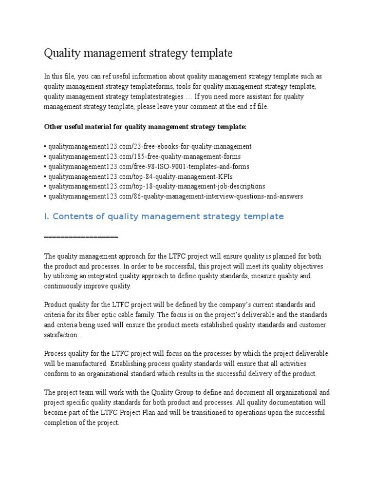 Quality Management Strategy Templatecx Scatter Plot Histogram