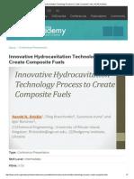 Innovative Hydrocavitation Process to Create Composite Fuels _ AIChE Academy