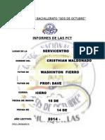 Informe de Actividades Realizadas en Formación de Centros de Trabajo Maldonado