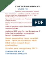 Pengarahan Pkm Dikti 2012 Didanai 2013