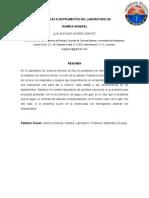 Practica Indroductoria. Materiales e Instrumentos Del Laboratorio