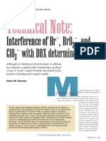 Interference of Bromine bromide and chlorate with DOX determination