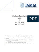 Sales and Marketing Terminology