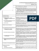 Regular Session Information Bulletin 2015