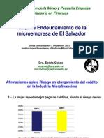 Nivel de Endeudamiento Microempresa El Salvador_20Nov2014