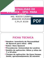 Diapositivas Inventario de Personalidad Eysenk Para Niños