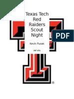Texas Tech Football Scout Night