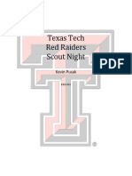 Texas Tech Scout Night Marketing Plan