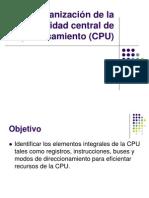 Organizacion de La Unidad Central de Procesamiento
