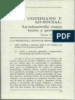 Lo Cotidiano y Lo Social Telenovela