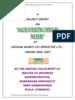 F&A - BUDGET ANALYSIS.doc
