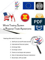 World Trading System and Regional Trade Agreements