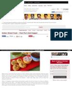 Indian Street Food ~ Pani Puri