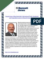 Bennett Jones Milos Barutciski International Trade Investment and Competition Lawyer at Bennett Jones Toronto