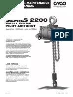 CAH Small Frame Air Hoist Manual 11720901