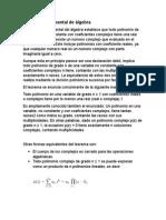 Teorema Fundamental Del Alegbra